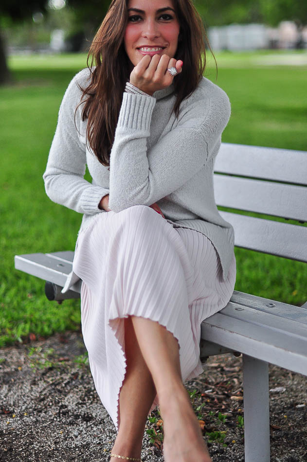 Grey a line skirt