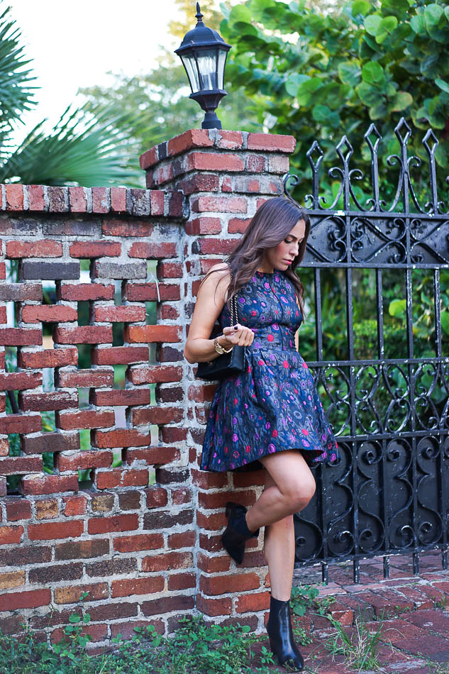 a4dc58f2ab25 Cynthia Rowley floral dress and ASKA Collection Troy booties