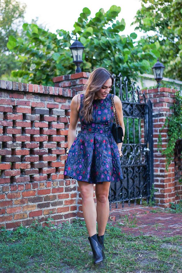 e52eba9bf9a1 Cynthia Rowley floral dress and ASKA Collection booties ...