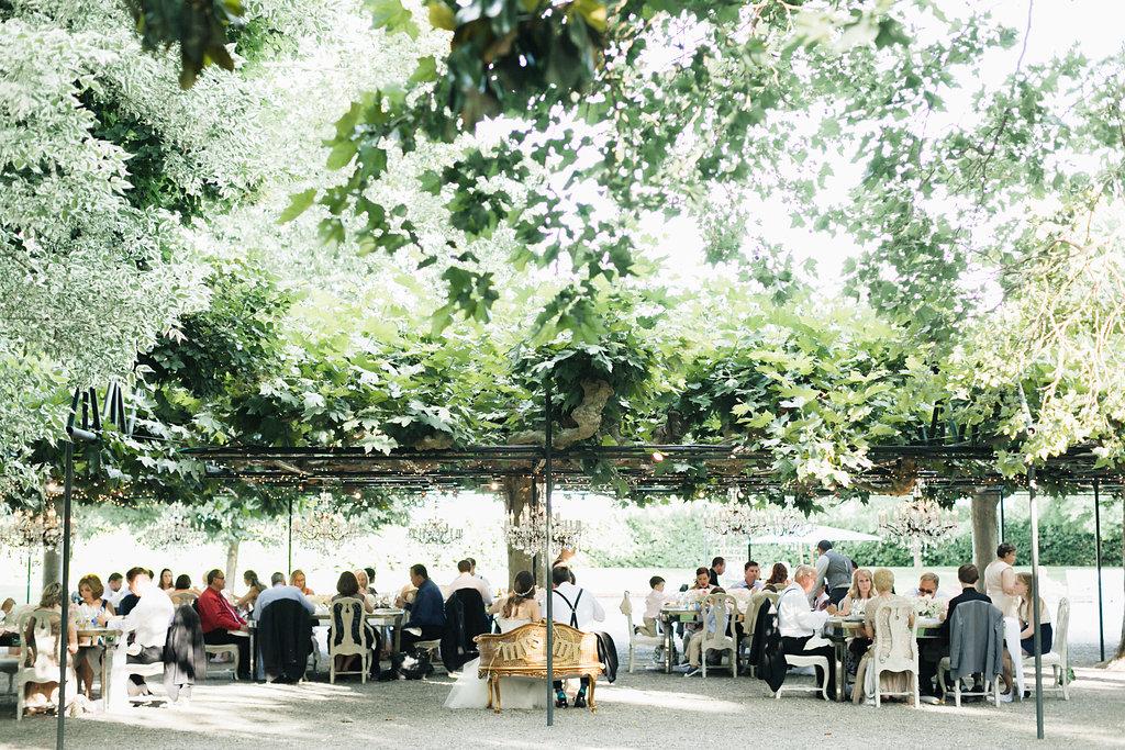 Beaulieu Garden, Napa Wedding, dinner under the arbor