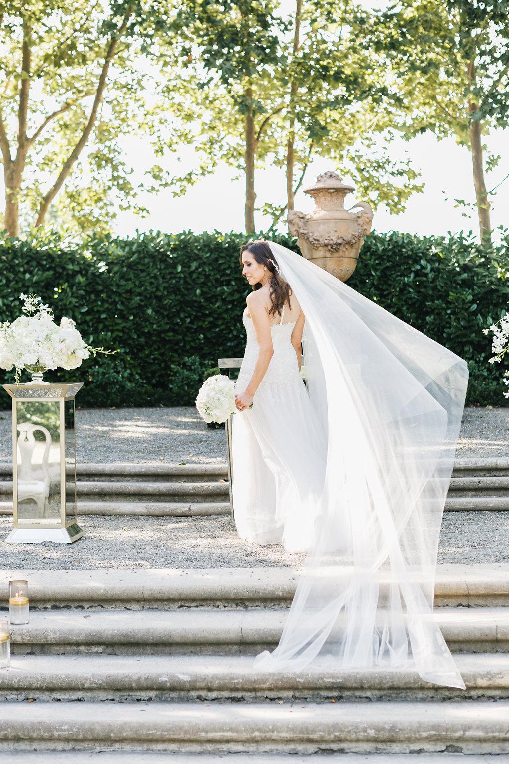 Beaulieu Garden, Napa Wedding, Reem Acra wedding dress and veil