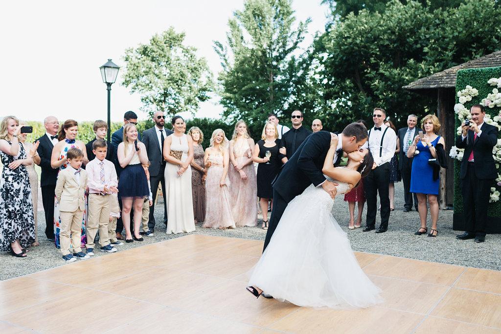 Beaulieu Garden, first dance, Napa Wedding