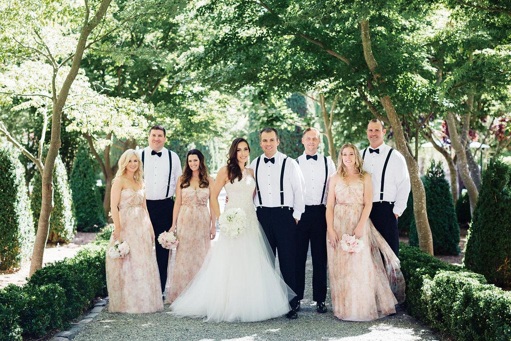 Beaulieu Garden, wedding party photo, Napa wedding