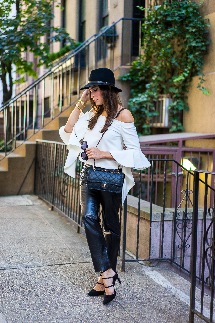 Milly Leather Pants