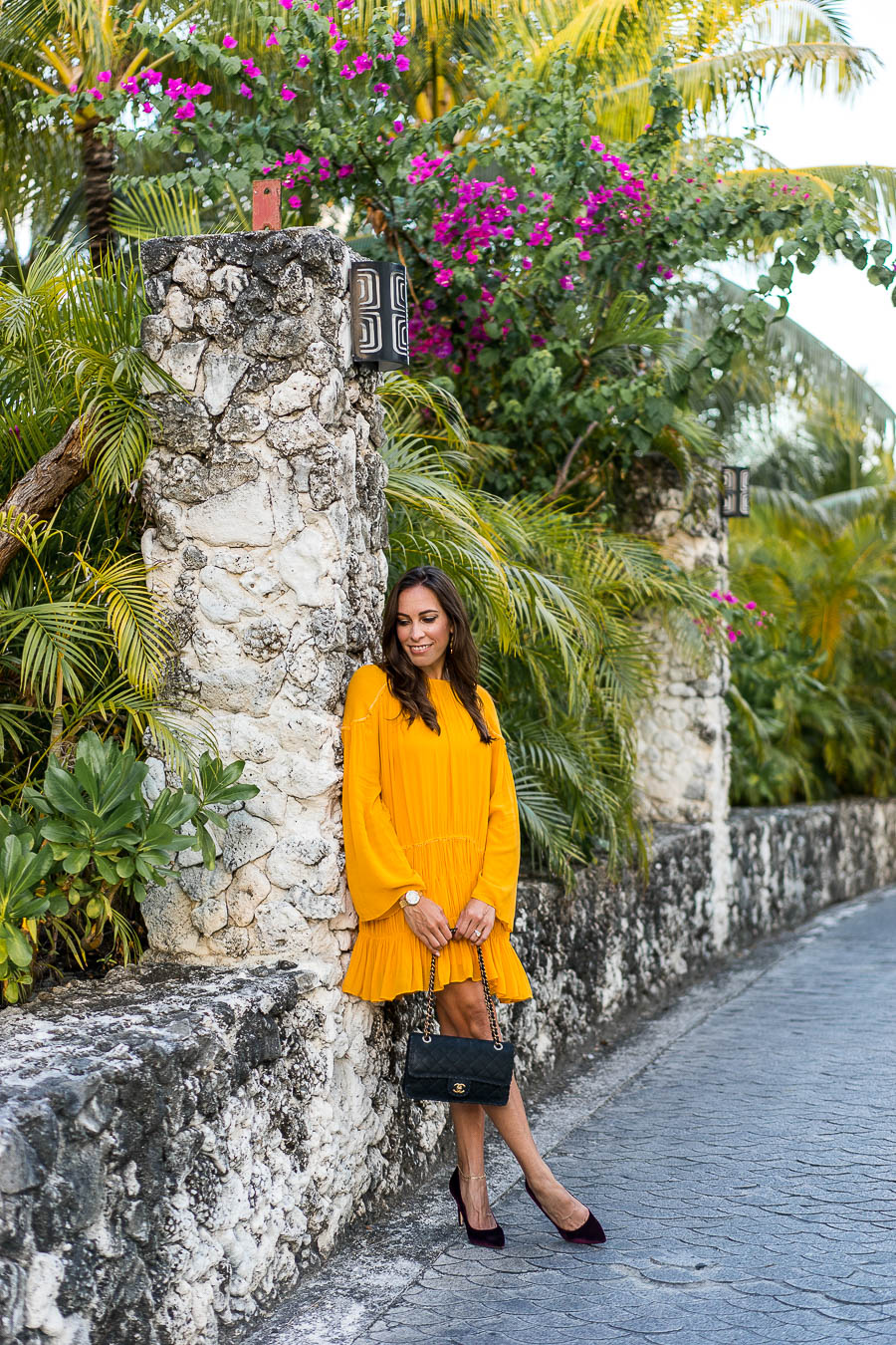 1c0061222610 Fashion blogger Amanda from A Glam Lifestyle shows you how to style a  mustard yellow dress