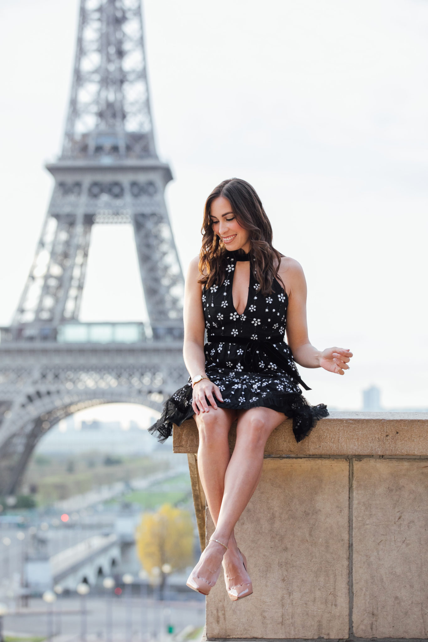 Alexis dresses at the Eiffel Tower in Paris as shown by Amanda of A Glam Lifestyle blog in the Paris Eiffel Tower