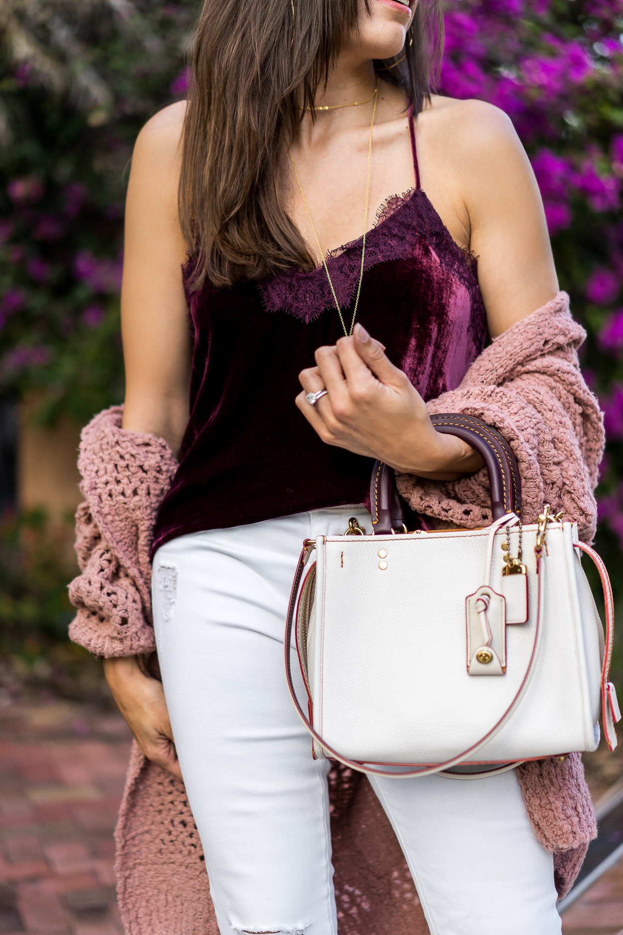 Coach Rogue bag worn with Spring layering favorites by Amanda of A Glam Lifestyle blog