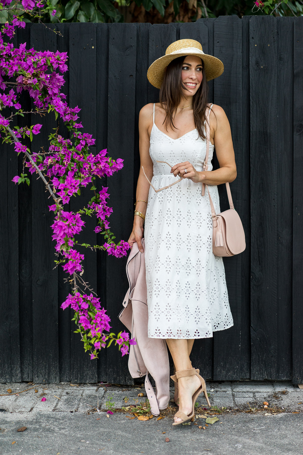 Old Navy midi dress is the perfect item for your Spring outfit as worn by fashion blogger Amanda of A Glam Lifestyle