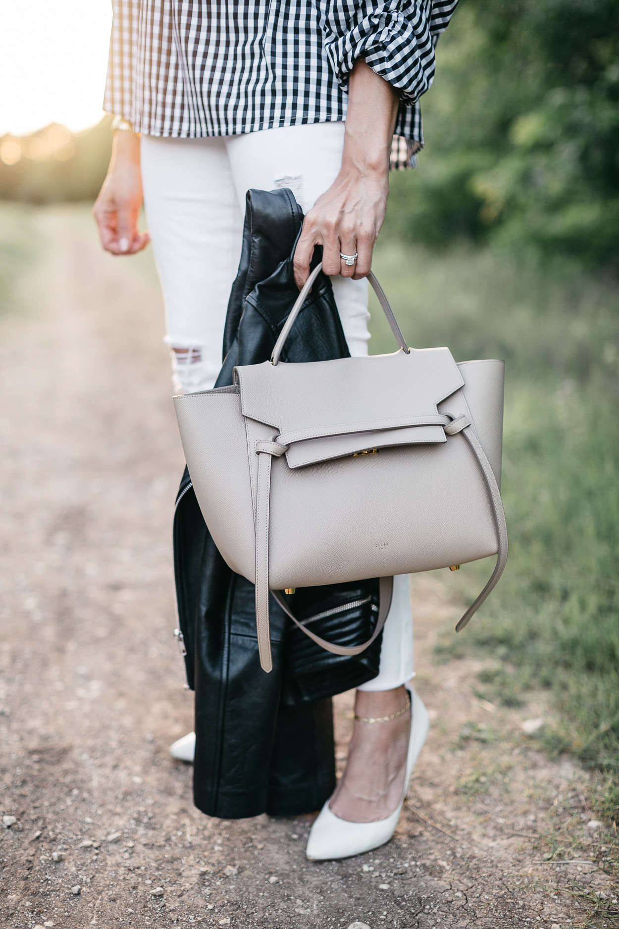 Celine belt bag is a neutral accessory favorite of South Florida fashion blogger Amanda of A Glam Lifestyle
