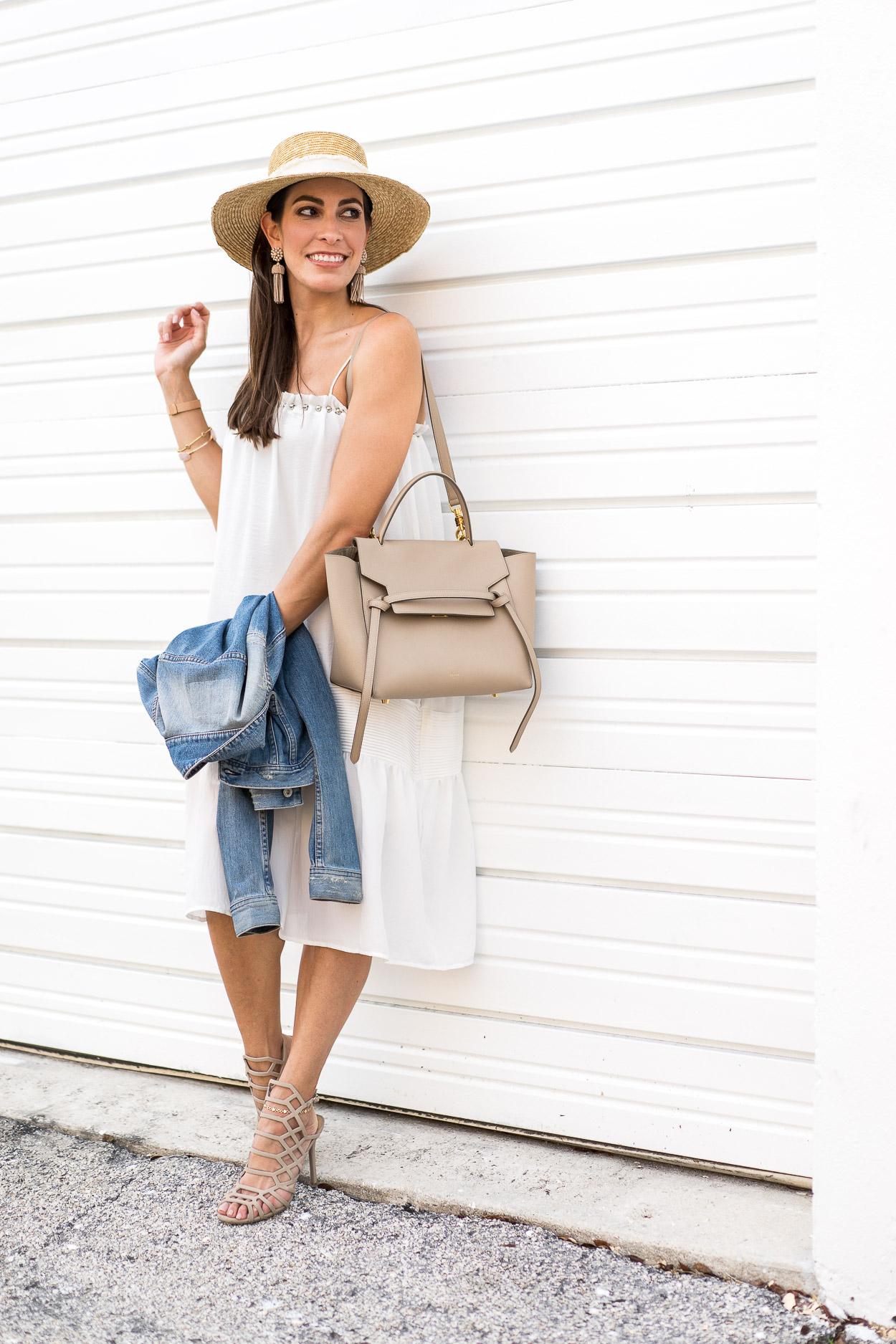 4bb565a92d9c endless-rose-white-dress-memorial-day-sales-memorial-day-weekend-outfit-aglamlifestyle-blogger-daniel-wellington-petite-classic-rose-gold- celine-medium-belt ...