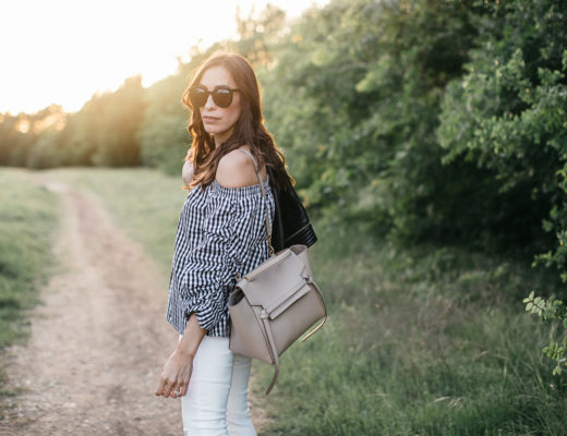 Gingham top trend at Chicwish is perfect for Spring with neutral accessories like Celine Belt bag worn by Amanda of AGlamLIfestyle blog