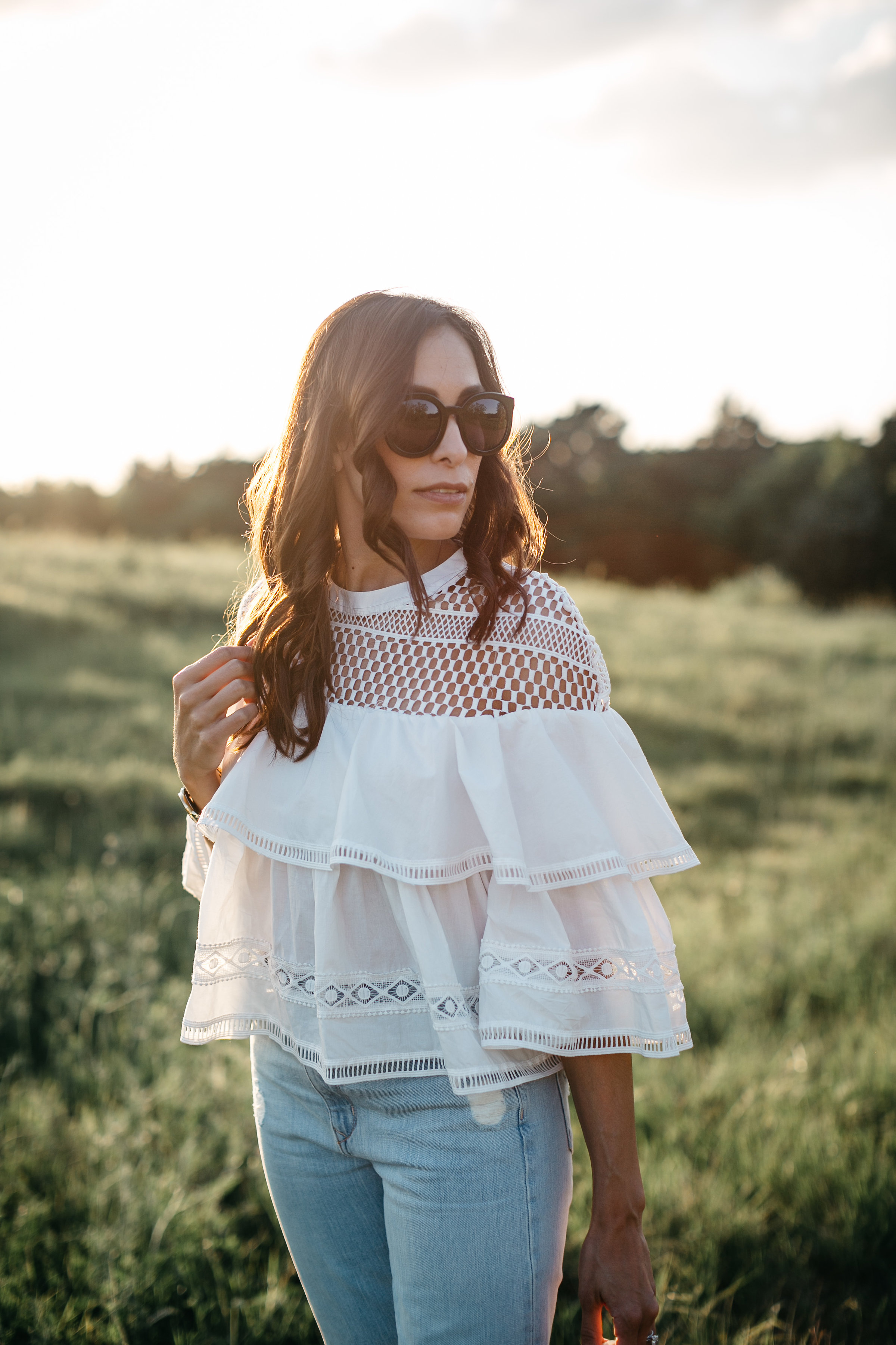 Tiered ruffle top from Chicwish worn by Amanda of A Glam Lifestyle blog