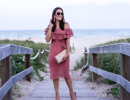 Summer style in Chicwish mauve ruffled dress by AGlamLifestyle blogger Amanda
