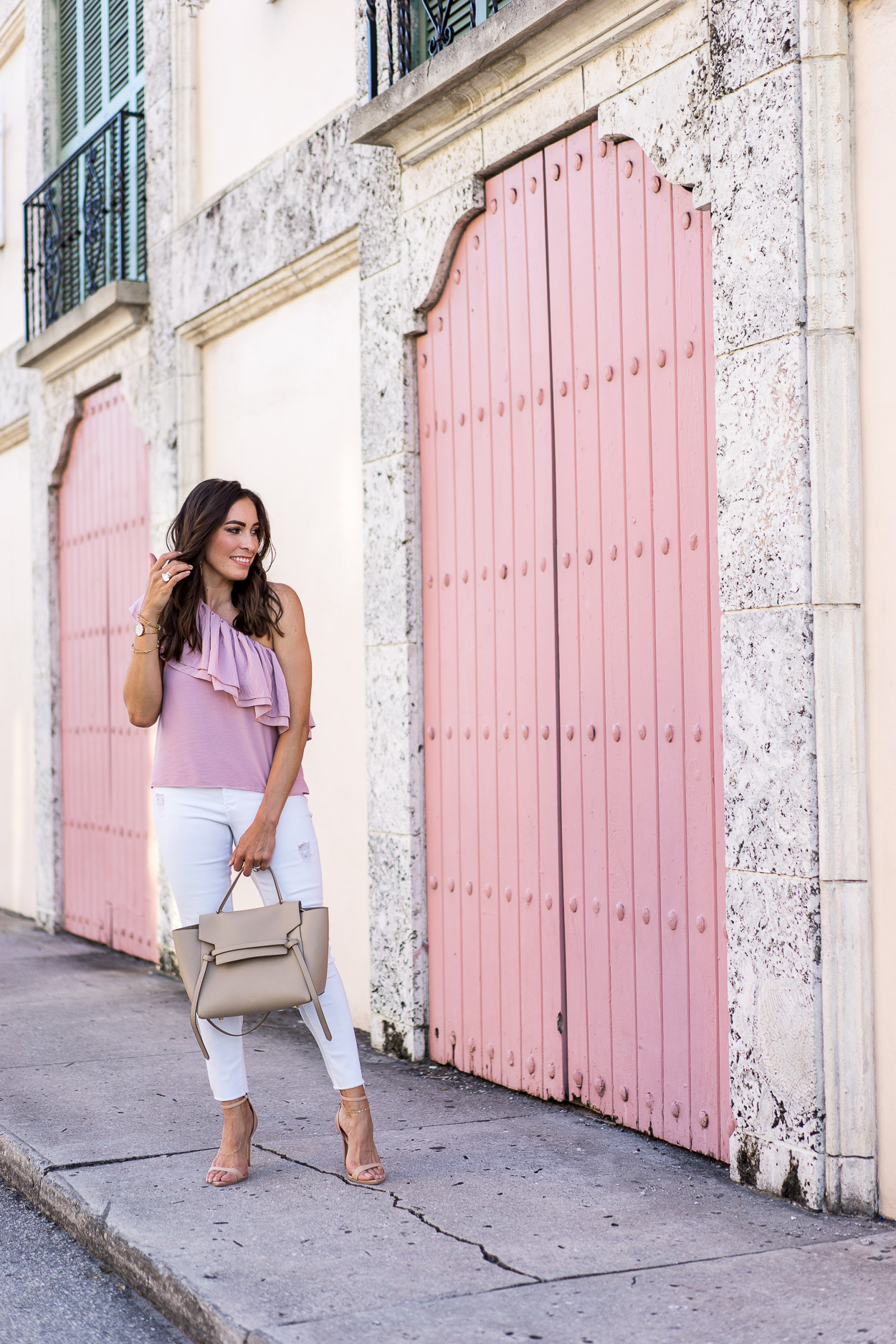 d07c32a0504f ... ruffle top and Lisi · Full Celine Belt Bag review by fashion blogger  AGlamLifestyle with pros and cons ...
