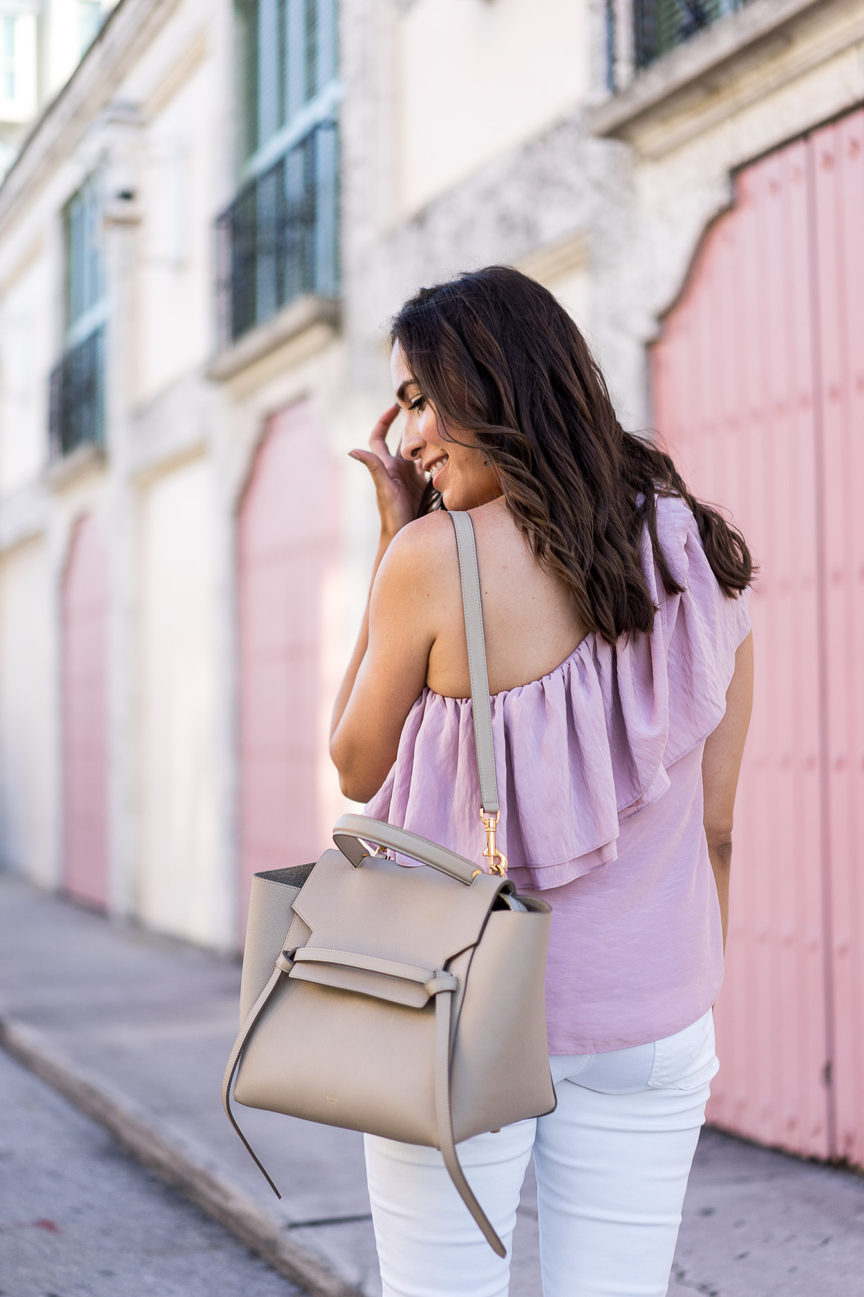 9630ef4770ac ... Complete Celine Belt Bag review by fashion blogger Amanda of A Glam  Lifestyle wearing Endless Rose ...