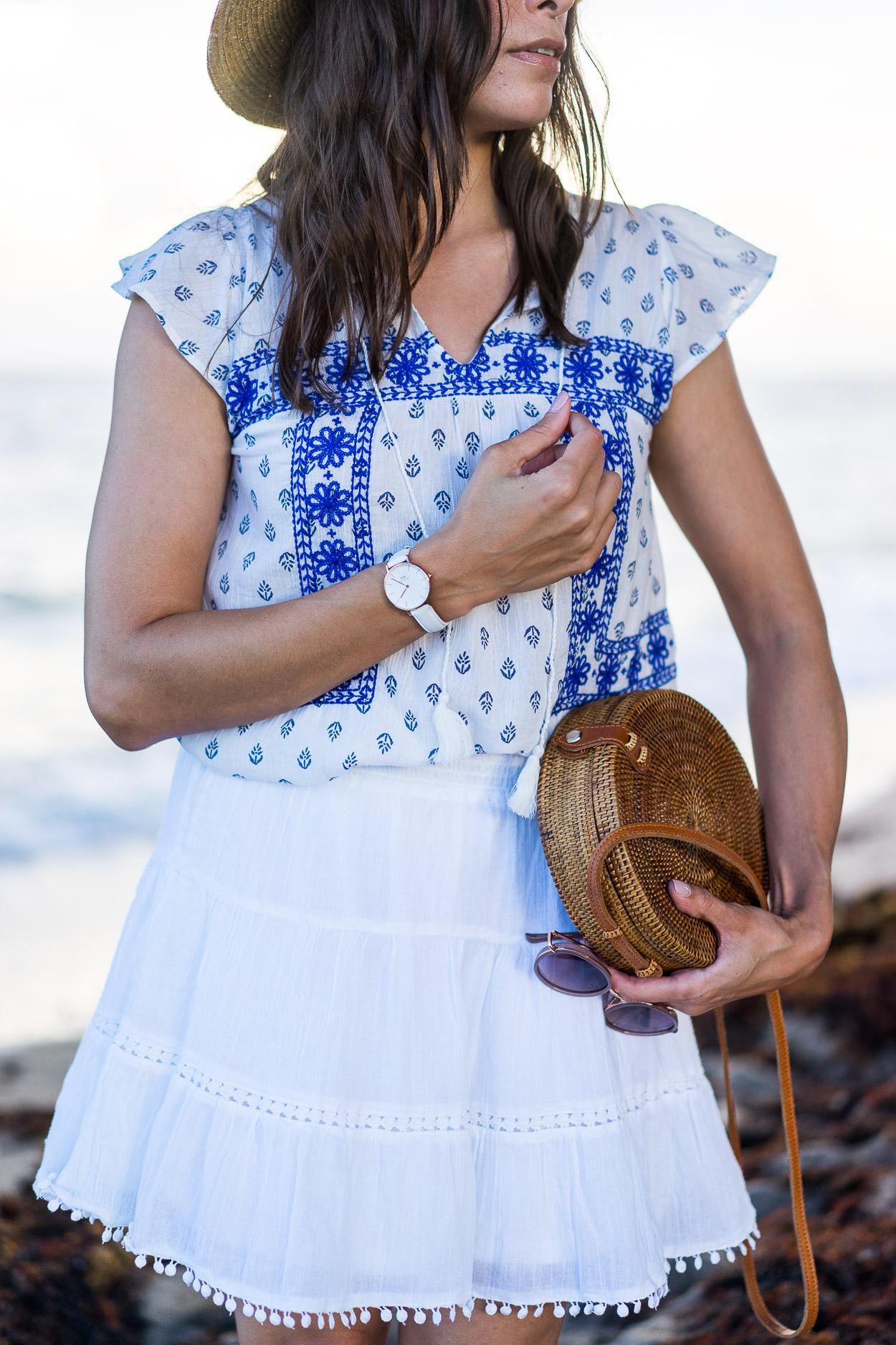4886f332 daniel-wellington-white-classic-petite-old-navy-summer-straw-boater-hat- aglamlifestyle-blogger-2