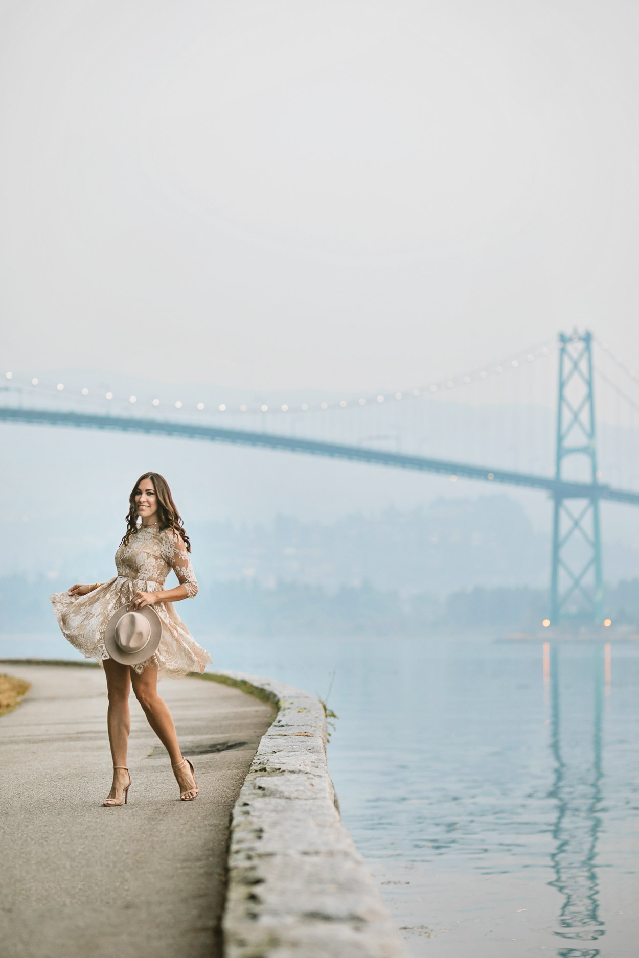 Gorgeous view of the Lions Gate bridge via Stanley Park makes the list of the top things to do in Vancouver