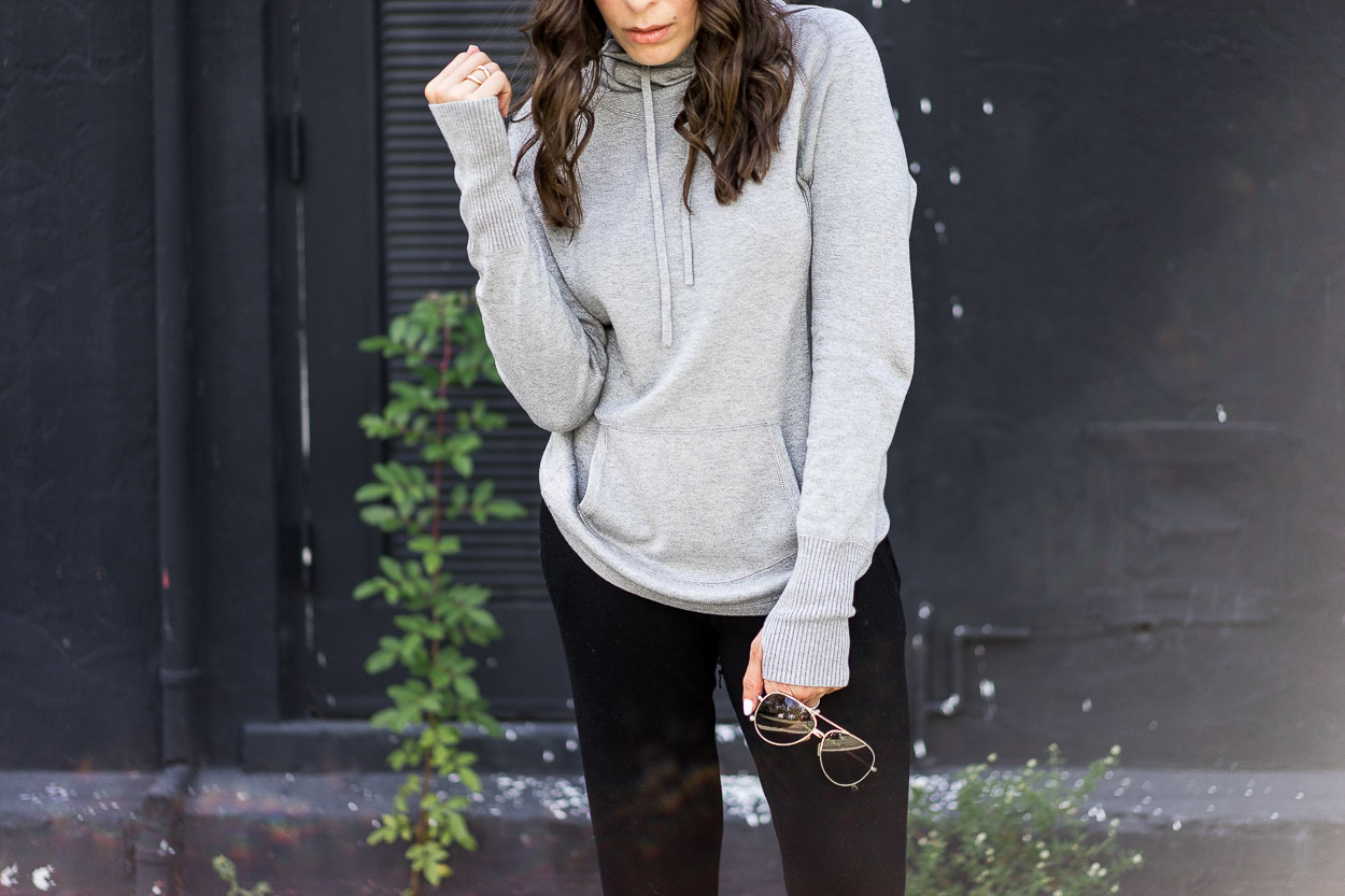 Grab a pair of cashmere joggers from Leimere and wear it with their cashmere hoodie for the ultimate travel style a la blogger A Glam Lifestyle