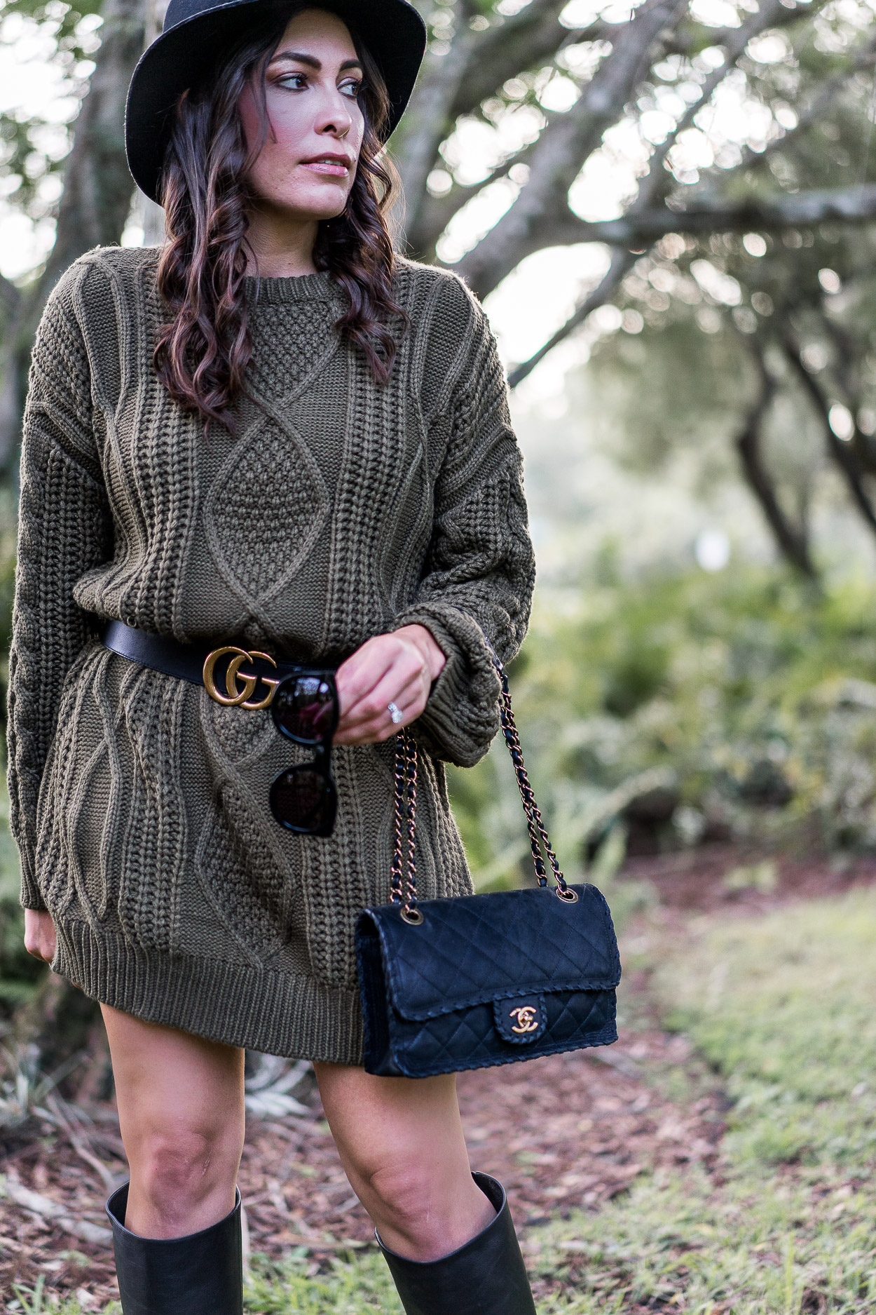 Easy fall style is a Chicwish sweater dress worn by Amanda of A Glam Lifestyle blog