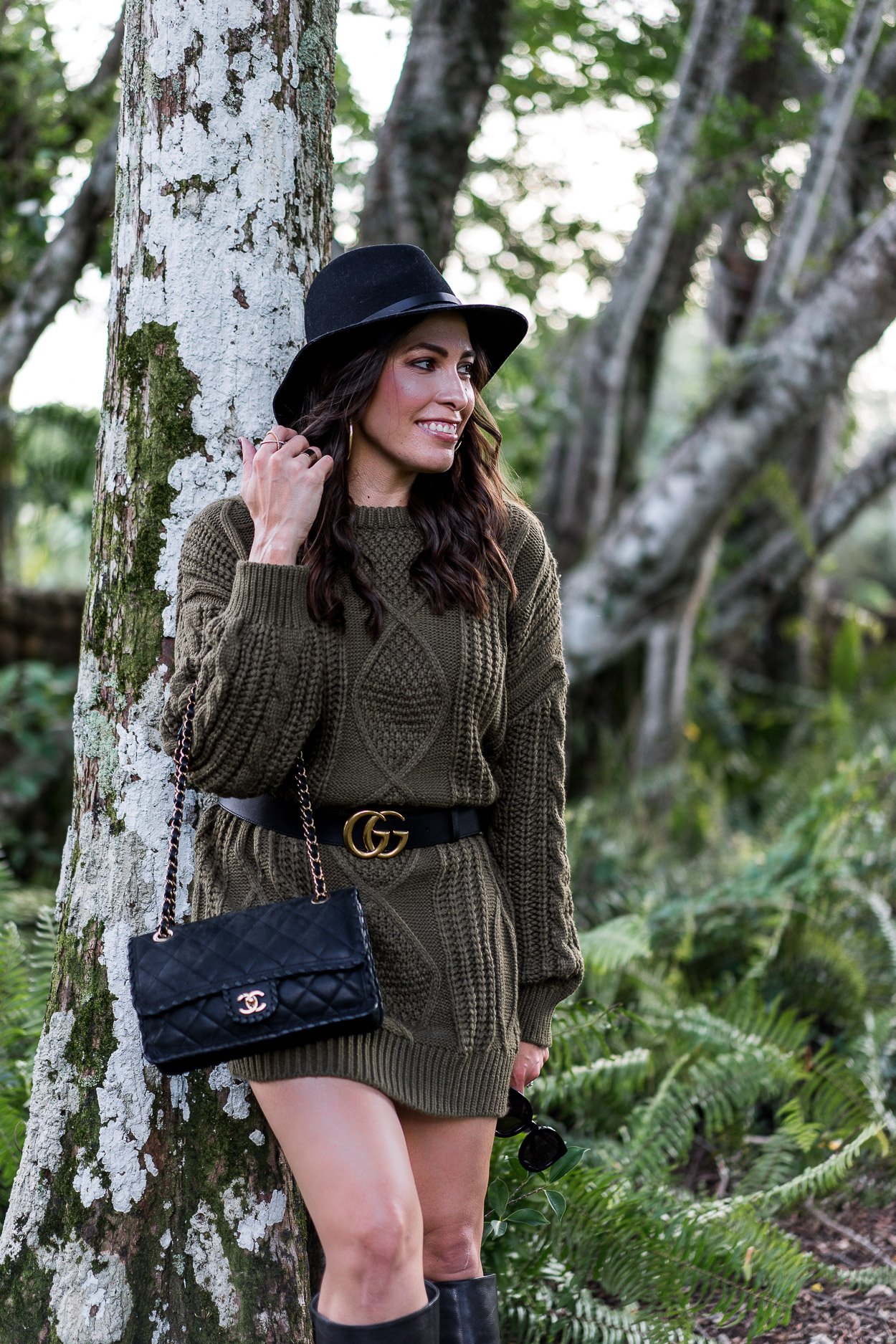 Chicwish sweater dress is easy Fall style worn by Amanda of A Glam Lifestyle blog
