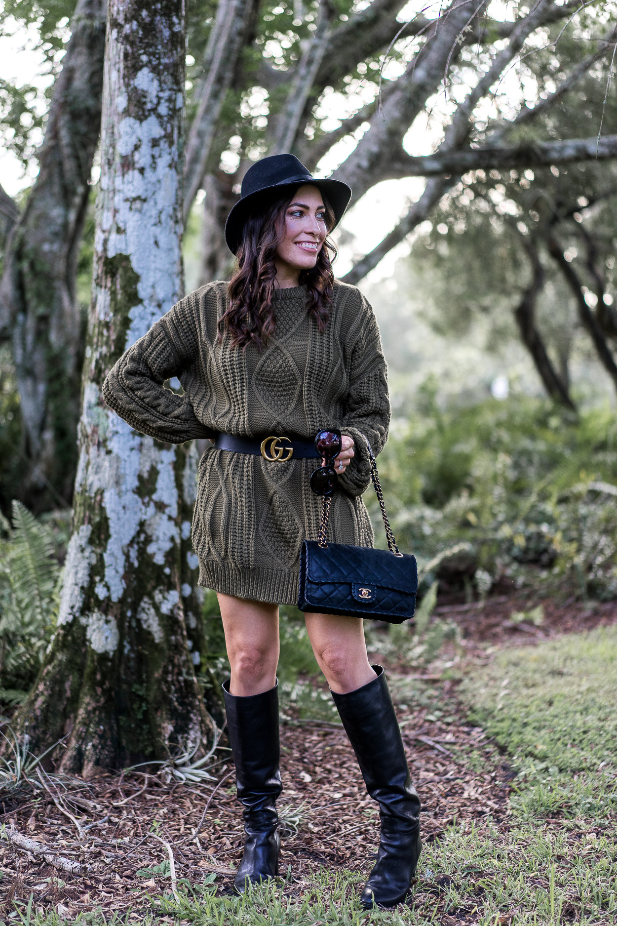 Cozy Chicwish sweater dress worn by A Glam Lifestyle blogger