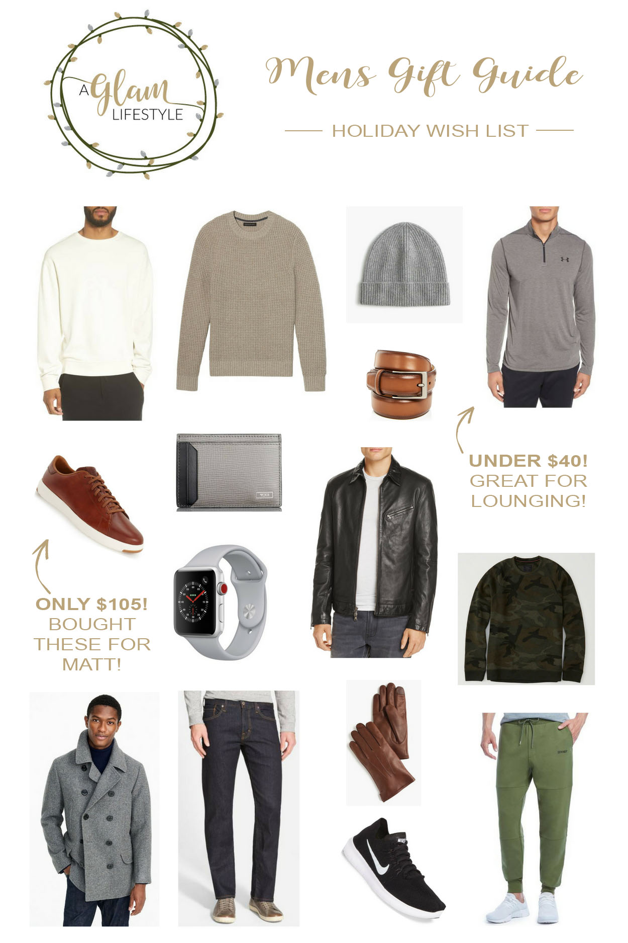 The 2017 Best Men's Gift Guide with items hand picked by South Florida fashion blogger Amanda of A Glam Lifestyle