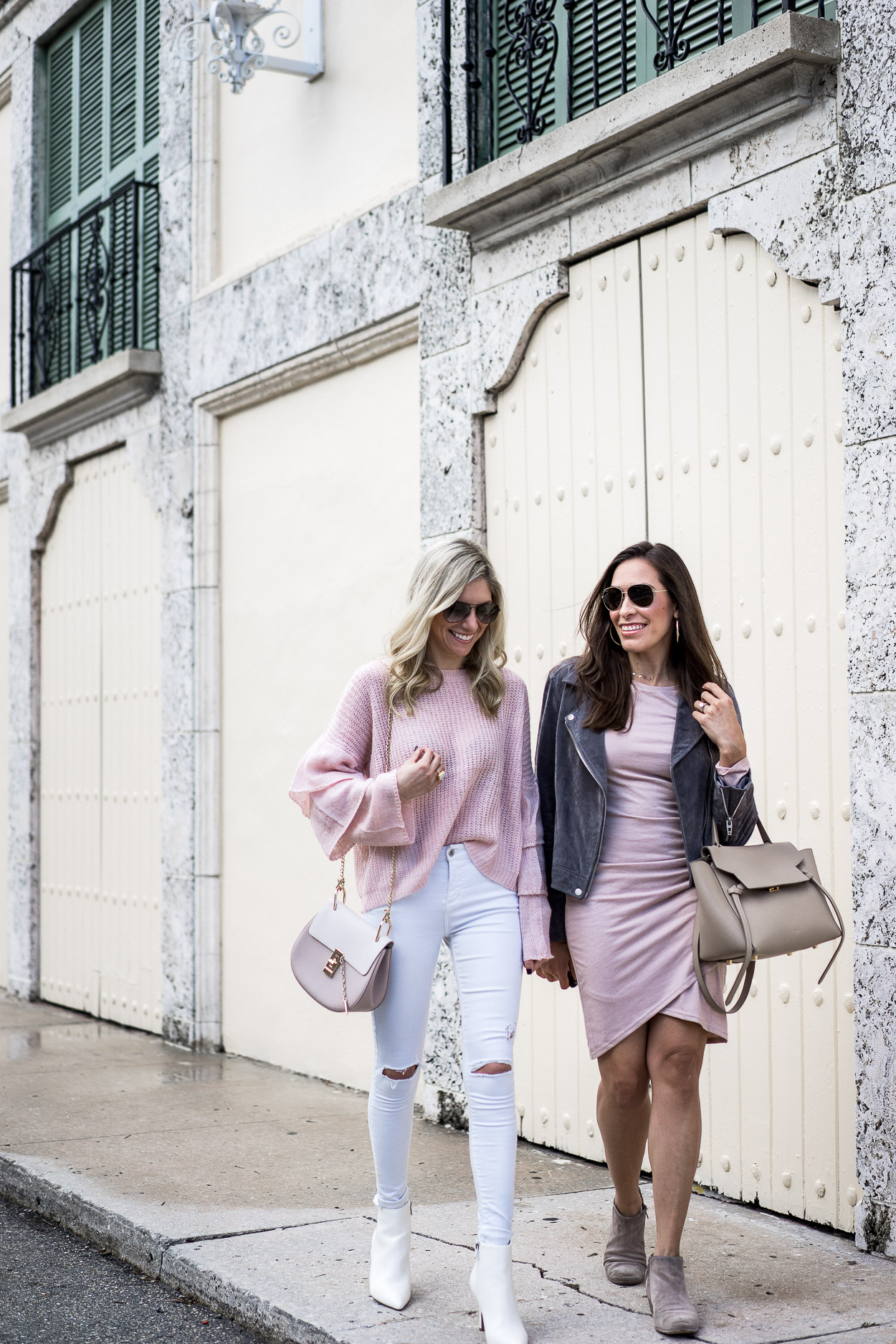 Leith ruched dress and blush Chicwish sweater matched perfectly for blogger A Glam Lifestyle's birthday celebrations