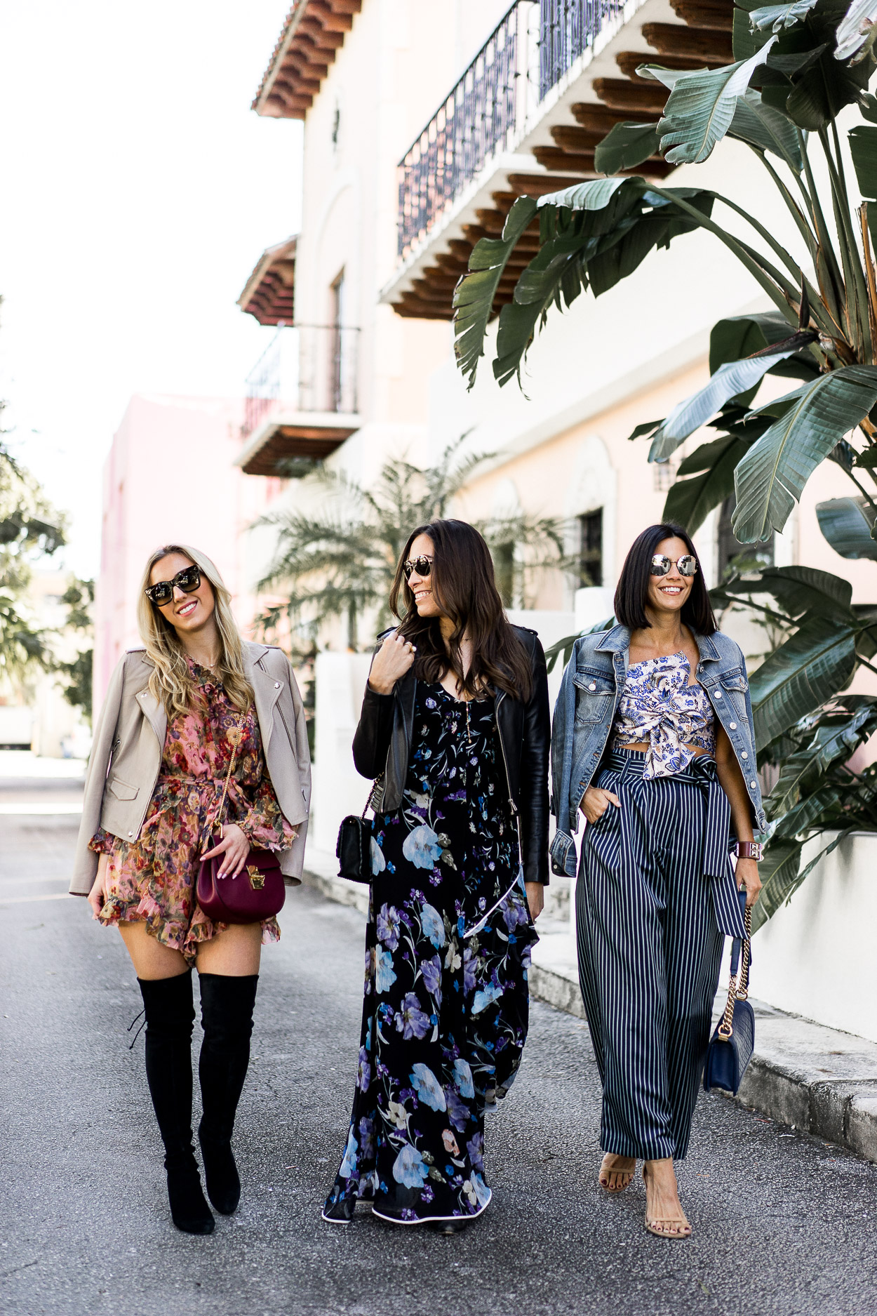 Blogger brunch outfits are always on point, like Get On My Chic, A Glam Lifestyle and Sauci Style bloggers in Fort Lauderdale