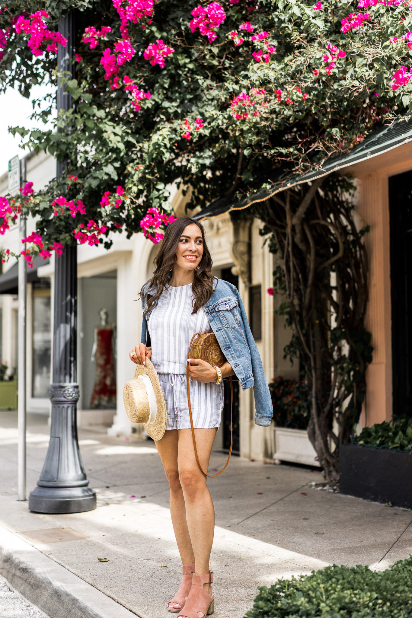 266d0aaf ... Bella Dahl striped tie back romper is a must have for your summer  uniform in South · Amanda of A Glam Lifestyle blog ...