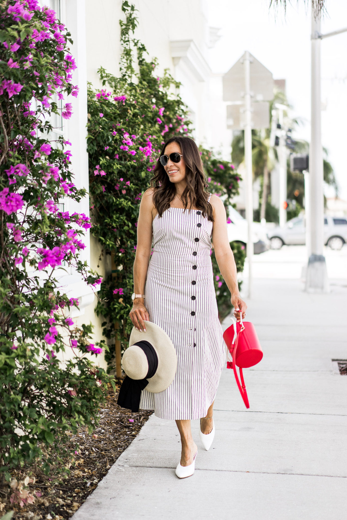 Target Who What Wear Collection Striped Sleeveless Button Down Midi