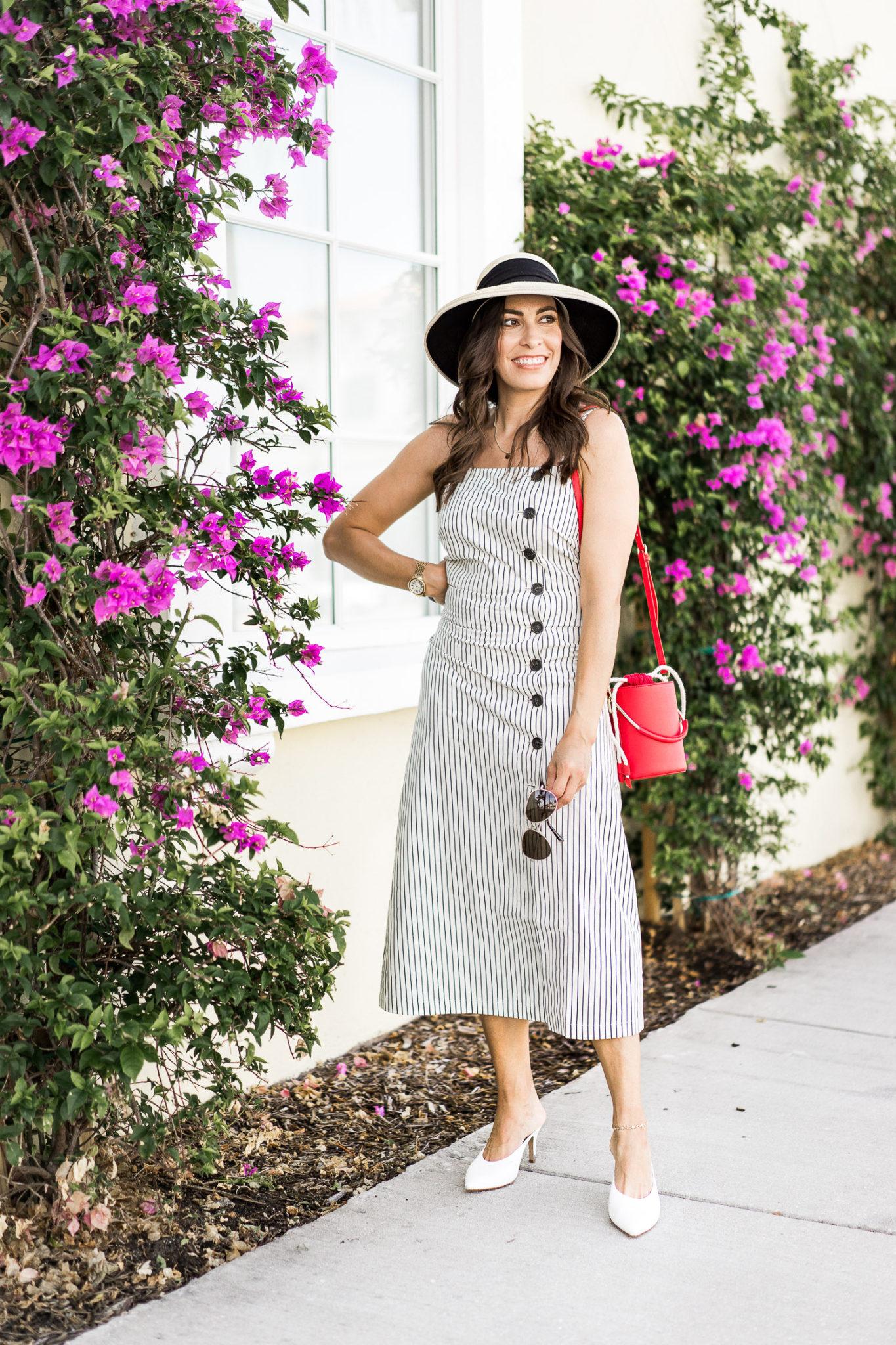 740ff16fd01 ... dress and · Palm Beach is the perfect backdrop for the Who What Wear  Collection sleeveless striped button up ...