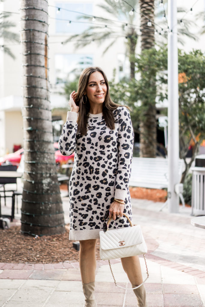 9a5ed379d3 Amanda of A Glam Lifestyle blog styles the seasons hottest print with the  cutest leopard sweater